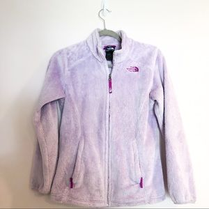 The North Face Lavender Fuzzy Zip Up sz L